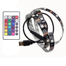 USB Powered RGB Color Change 5050 LED Strips Computer TV PC Back Light Kit DC 5V