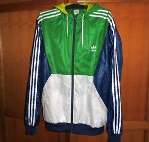 ADIDAS windbreaker jacket - size XXL - shiny nylon - wet look - glanz