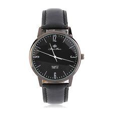 New Men's Casio Sub-brand Stainless Steel Leather Band Analog Quartz Wrist Watch