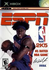 XBOX ESPN NBA 2k5 Video Game 05 2005 online multiplayer basketball hoops mini