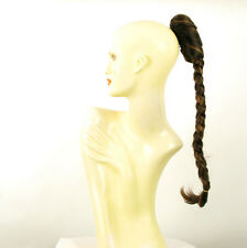 Hairpiece ponytail plait 19.69 long chocolate copper wick 4/627c