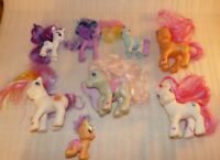 My Little Pony MLP 2008 Crawling, Butterfly Pegasus, horn 2002 2010 LOT of 8