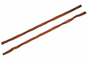 New Genuine Tan Leather Handle Bar Grip Stripe Tape for Motorcycles ECs