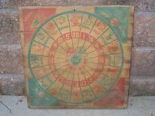 Vintage / Antique Double Sided Wood Dart Board Big Game Hunt - Very old and rare