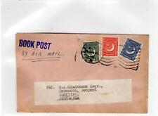 PAKISTAN: 1950s Book Post by Air mail cover to Scotland (C29226)