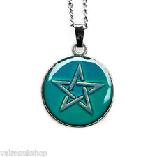 Celtic Star Round Mood Colour Changing Pendant Necklace