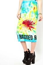 THE RAGGED PRIEST TOPSHOP FESTIVAL TIE DYE MIDI BODYCON SKIRT S/M 6 8 10 £40!
