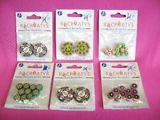Perles fantaisies pour collier ou bracelets  lot de 6 sachets