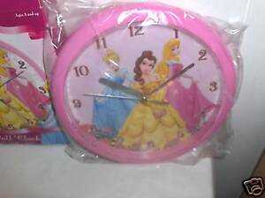 Princesses-Girls Wall Bedroom Clock-New In Box-:>Free Ship To US