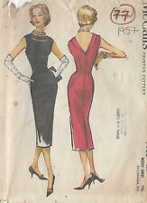 "1957 Vintage Sewing Pattern B40"" DRESS (77)"