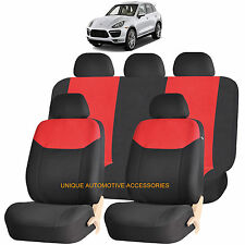 RED ELEGANT AIRBAG COMPATIBLE SEAT COVER SET for PORSCHE CAYENNE