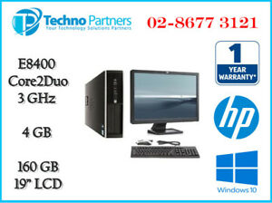 """Computer Package HP Elite 8000 Core 2 Duo 4G 160G Win10 19"""" LCD Monitor warranty"""