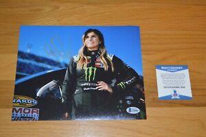 Hailie Deegan ~ NASCAR ~ Autographed 8x10 Color Photo with Beckett COA