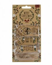 Set of 15 Traditional Rustic Christmas Gift Tags/Labels