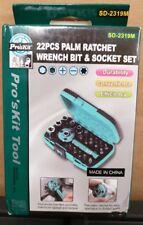 Pro'sKit 22PCS Palm Ratchet Wrench Bit & Socket Set Tool SD-2319M (B1)