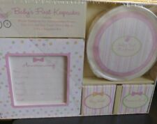 Baby Girl Pink First Keepsakes Box New Baby Shower Present First tooth Handprint
