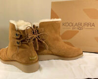 KOOLABURRA BY UGG, LOMA SHORT 1020274 SIZE 11, CHESTNUT WOMAN'S BOOTS BRAND NEW