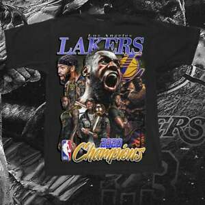 Vintage N.B.A Los Angeles Lakers 2020 Champi0ns T Shirt Vintage Men Gift Tee