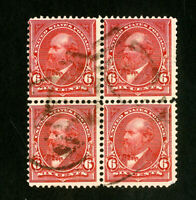 US Stamps # 282 F-VF Block 4 used