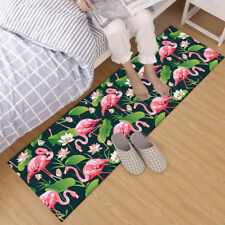 Flamingo Lotus Leave Home Area Rug Bedroom Kitchen Rug Yoga Floor Carpet 40X120