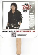 MICHAEL JACKSON, BAD, 25th ANNIVERSARY RELEASE; CARDBOARD PADDLE FAN