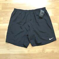Nike 7 Inch 2 in 1 DRI-FIT Running Shorts Mens Sports Sz XL Black CK0450 010 NEW