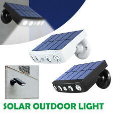 LED Solar Powered PIR Motion Sensor Lamp Outdoor Garden Security Wall Lights
