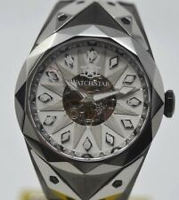 New Watchstar SuperStar Stealth Fighter Jet 49mm Automatic Platinum Plated Watch