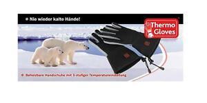 Thermo Gloves  heizbare Handschuhe 2-5 Stunden Wärme, inkl. 2 AKKUs
