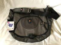 WENGER SWISS GEAR Gray Nylon Expanding Messenger Shoulder Bag Case NEW  NWT