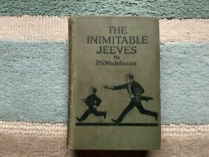THE INIMITABLE JEEVES by PG WODEHOUSE 1923 1st EDITION/1st PRINTING - VINTAGE