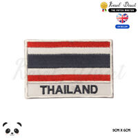 THAILAND National Flag With Name Embroidered Iron On Sew On Patch Badge