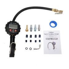 250 PSI LCD Digital Pressure Gauge Air Tire Inflator Dual Air Chuck For Vehicles