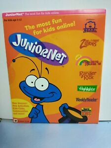 RARE OOB JuniorNet Software. Just for Kids 1999. Windows 95/98 CD SI FOR KIDS +