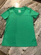 Women's M Nike Shirt DriFit V-neck Kelly Green Short Sleeve