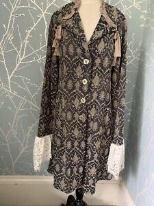 Out Of Xile Romantic Dress Coat Goth Steampunk Silk Trim Beautiful