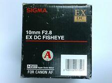 Sigma AF 10mm f/2.8 EX DC HSM FISHEYE Lens For Canon EOS APS-C DSLR's
