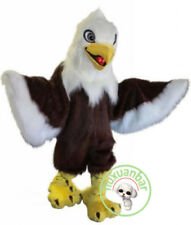 Deluxe Long Fur Eagle Mascot Costume Animal Cartoon Halloween Party Adults Dress