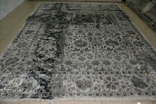 India 9x12 270x365 Hand High Knotted Art Silk Viscose Carpet Rugs Alfombras Hali