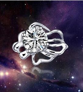 Ohrstecker Symbol des Sternzeichen Löwe Kristall weiß Sterling Silber 925
