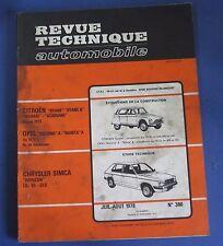 Revue technique RTA 380 Chrysler simca horizon LS GL GLS
