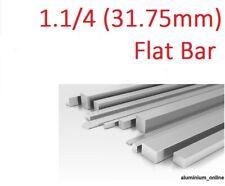 "ALUMINIUM FLAT BAR STRIP 1.1/4""  (31.7mm) various thicknesses upto 2500mm / 2.5m"