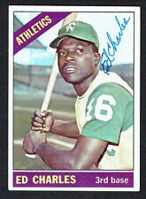 Ed Charles #422 signed autograph auto 1966 Topps Baseball Trading Card