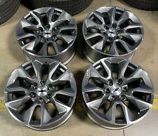 New Listingchevrolet Silverado Oem 20 Grey Machined Wheels 23376222 Set Of 4
