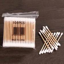 100pcs/Pack Bamboo Cotton Buds Disposable Makeup Tools Cotton Swabs Tips