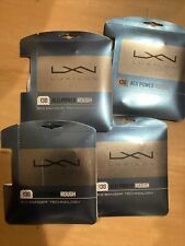 New Luxilon ALU Power Rough 16 String 1.30 40 Ft Grey (Set Of 4 Pkgs) Tennis