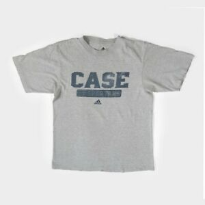 Adidas Case Western Reserve Spartans College T-Shirt USA Spell Out Sports Grey M