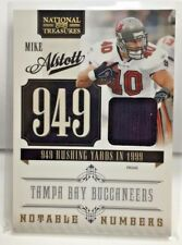 Mike Alstott 2010 National Treasures Notable Numbers Prime GU Patch #d/50 - BUCS