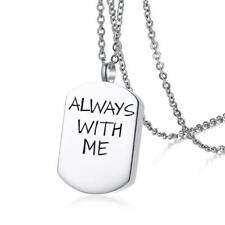 Stainless Steel Open Cremation Urn Pendant Necklace for Keepsake Memories Humans