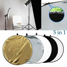 """23"""" 160cm 5 in 1 Photography Studio Multi Photo Disc Collapsible Light Reflector"""